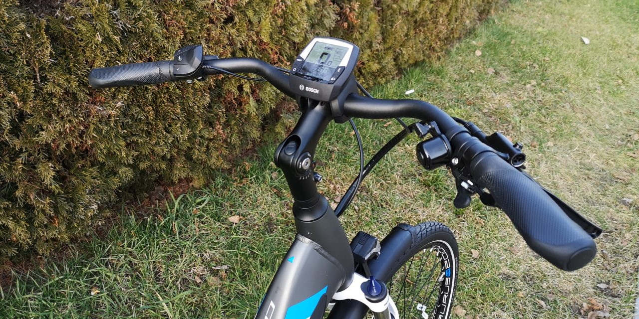 bequemer E Bike Lenker mit Bosch Display