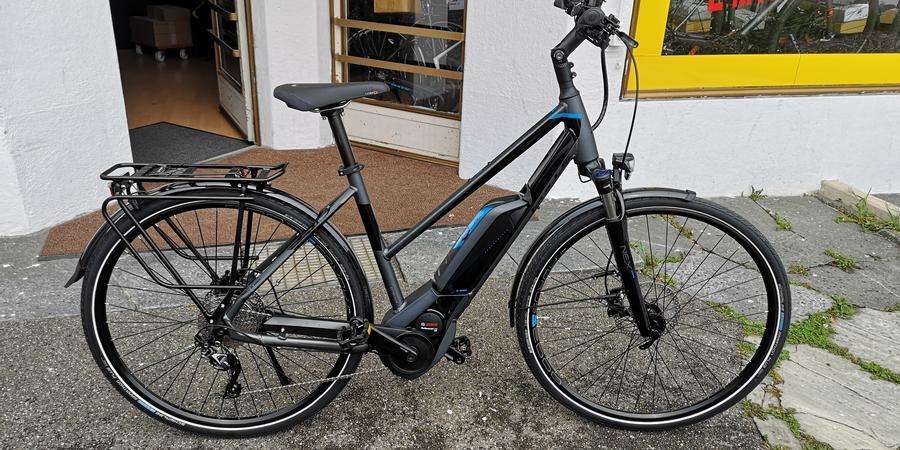 Sportliches Damen E Bike mit Trapez Rahmen
